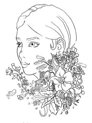 hübsches mädchen portrait mit blumen lil
