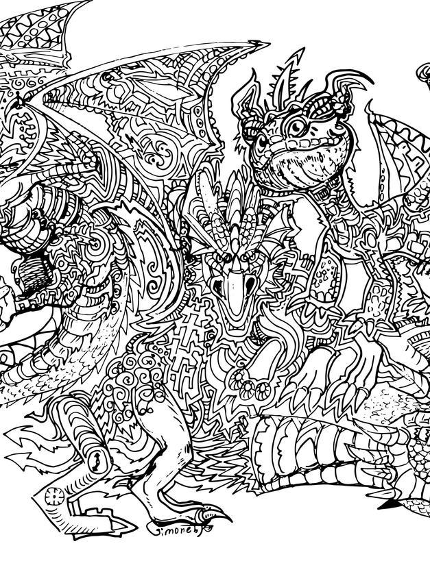 drachen drache fantasy ausmalbild ausmal