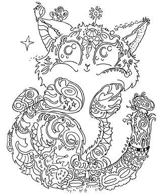 katze cat tier entzückt glücklich ausmal