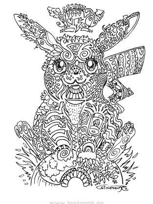 Pikachu Ausmalbild kostenlos / gratis