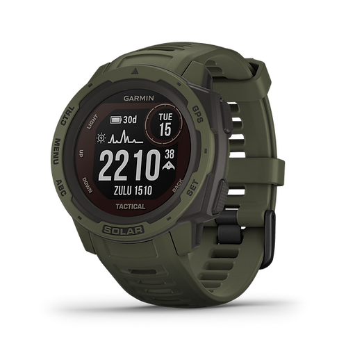 Garmin - Instinct Solar, Tactical Edition, Moss