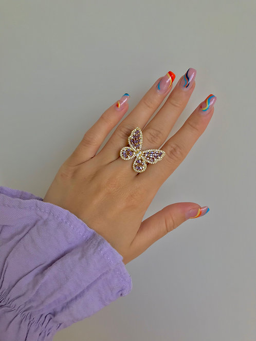 OBSESSED RING LILLA