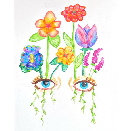 'Watch Me Bloom' - Original Watercolour
