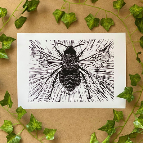 'Bee' By Rianna Thomas Art Lino Print.jp
