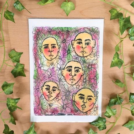 'Rhodochrosite' – A4 Art Print – By Rian
