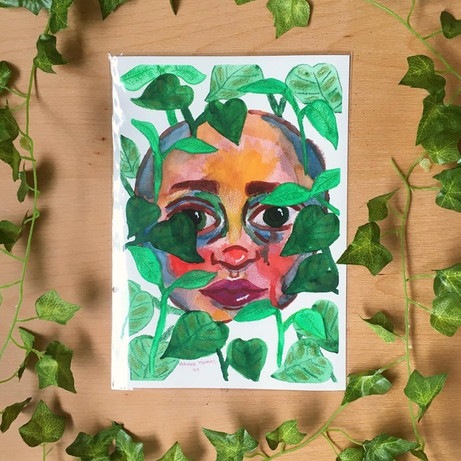 'Vines' – A4 Art Print – By Rianna Thoma