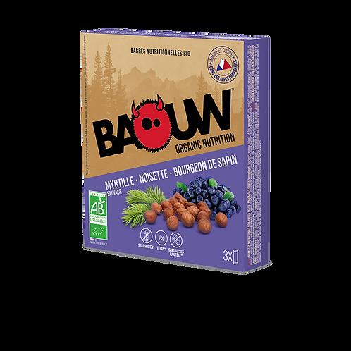 Lot de 3 Barres énergétiques BIO Myrtille Baouw - Noisette - Bourgeon sapin