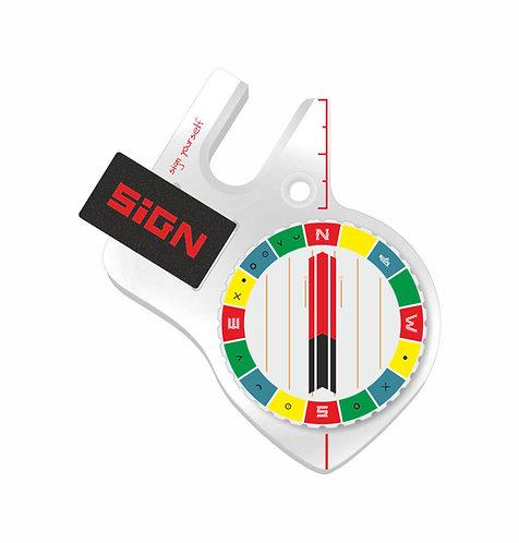 Boussole pouce gauche Sign S4 pro design 3