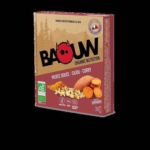 Lot de 3 Barres énergétiques salées BIO Baouw - Patate douce - Cajou - Curry