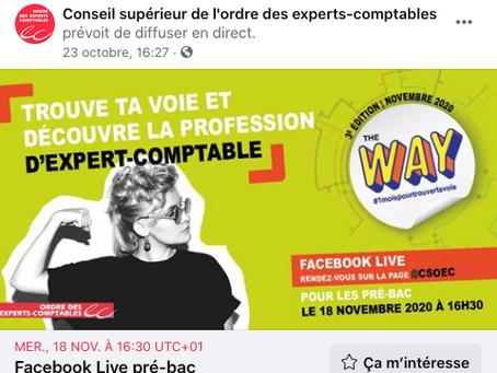 Découvre la profession d'expert-comptable avec FaceBook Live !