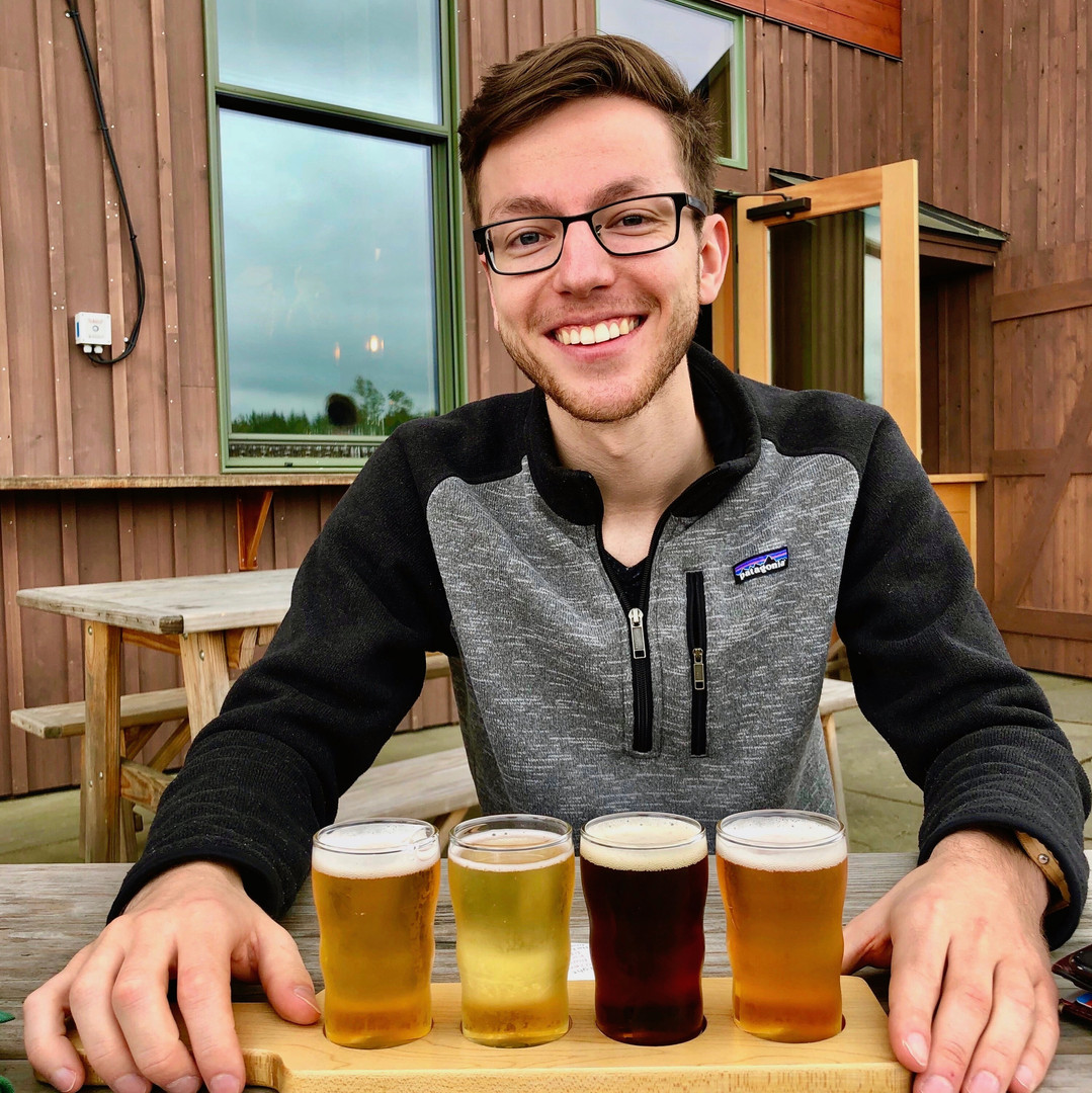 Ted enjoying a beer