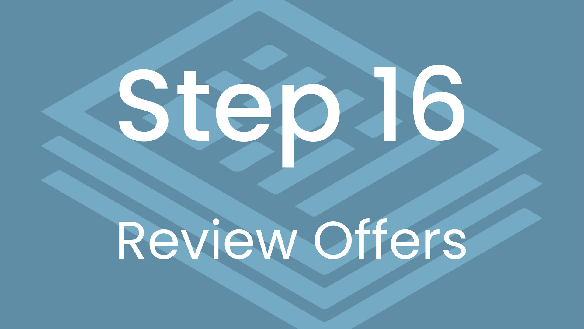 Step 16: Review Offers
