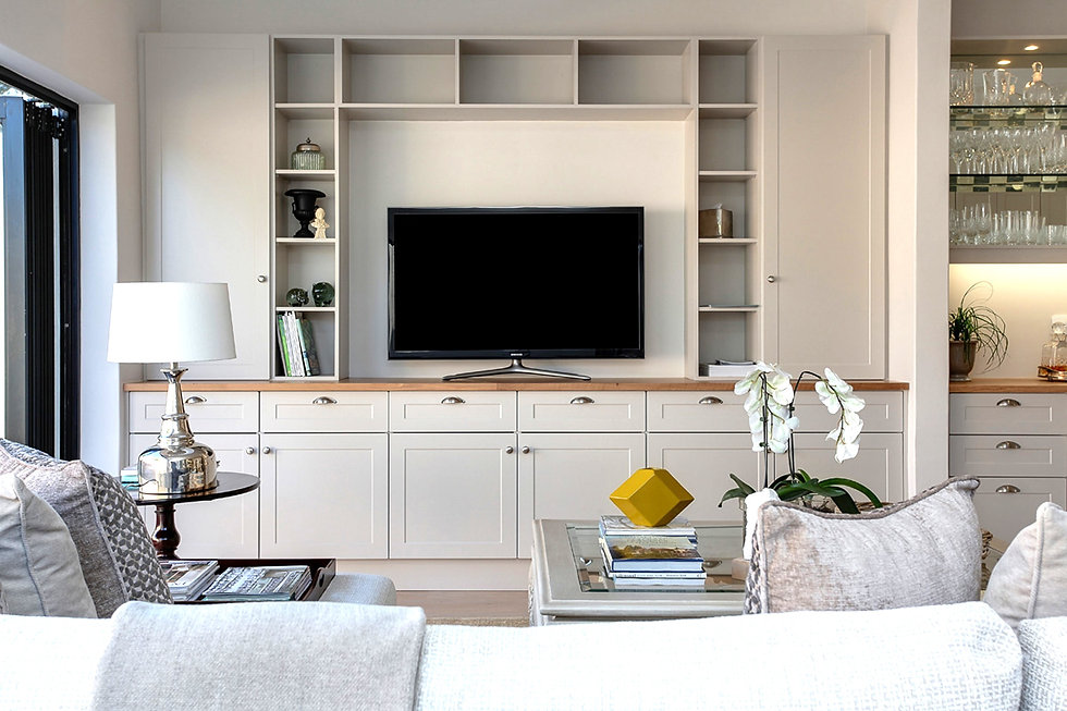 Living Room with built ins