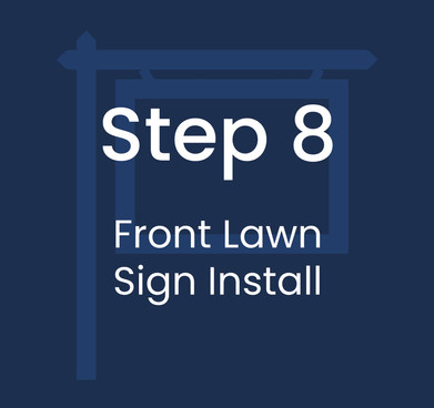 Step 8: Front Lawn Sign Install