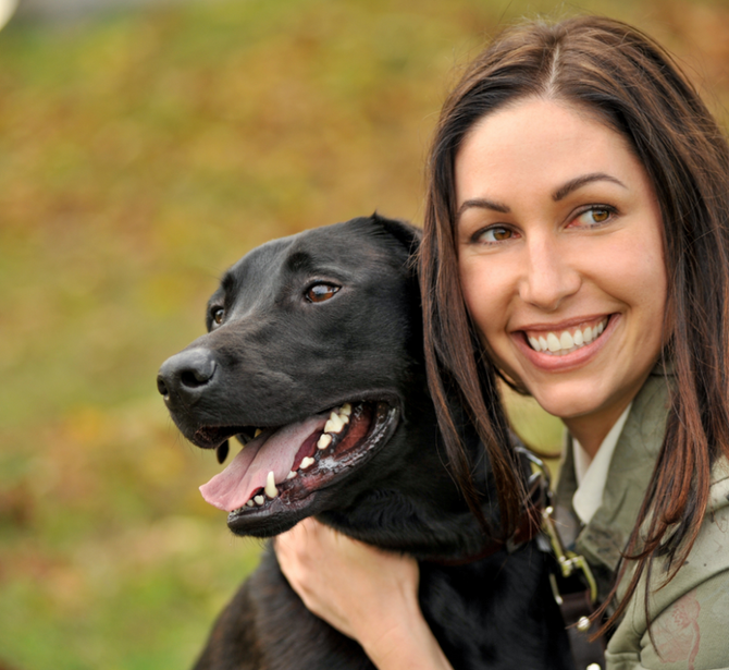Stephanie and her dog