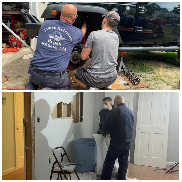 Thomas rebuilding cars and homes