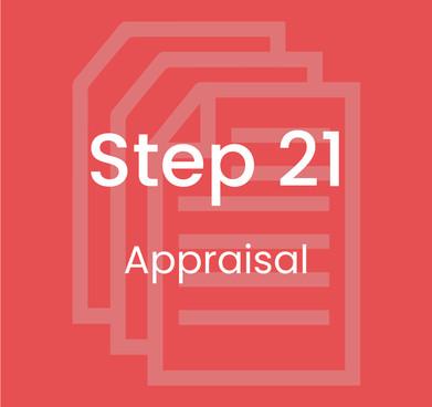 Step 21: Appraisal