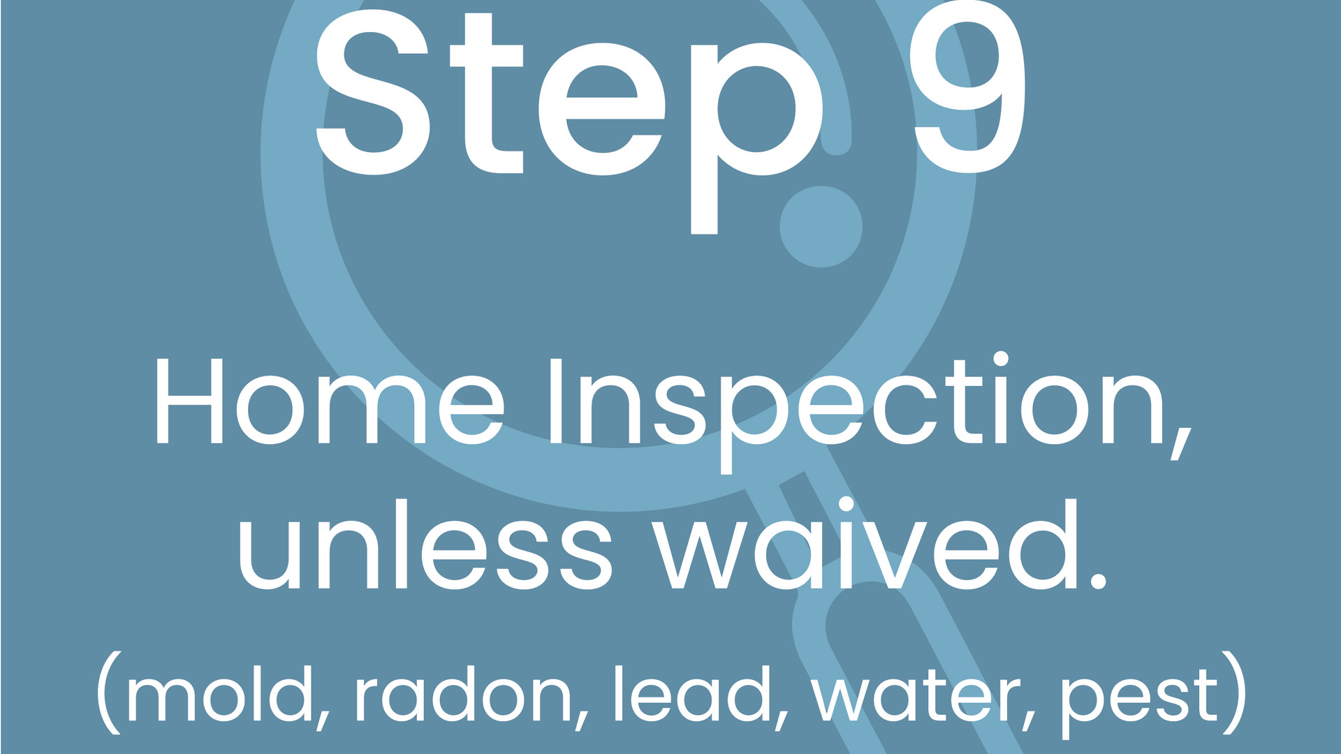 Step 9: Home Inspection, Unless Waived