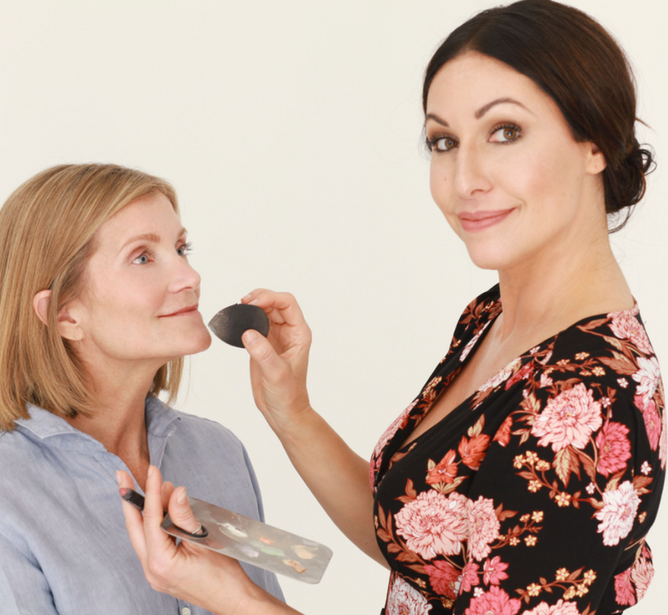 Stephanie doing makeup