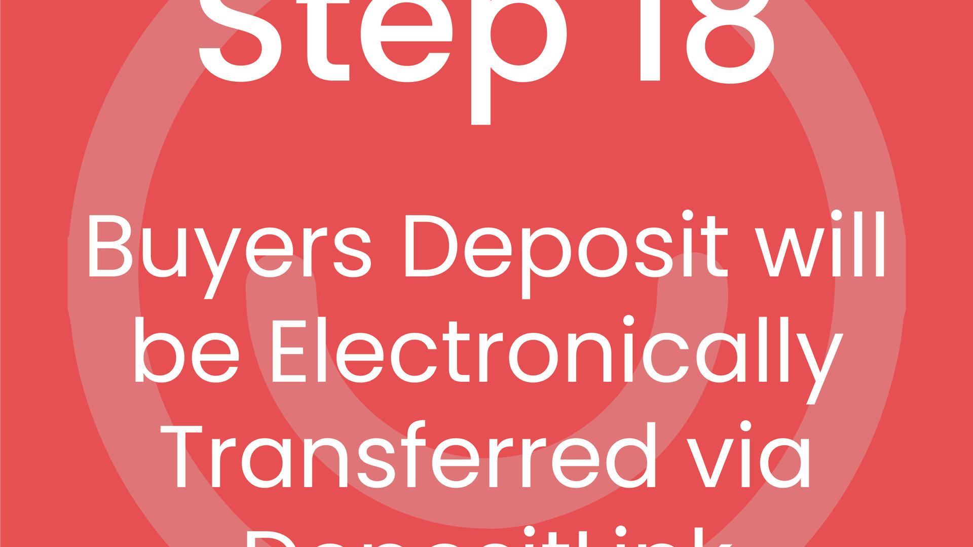 Step 18: Buyer's Deposit will be Electronically Transferred via Dotloop