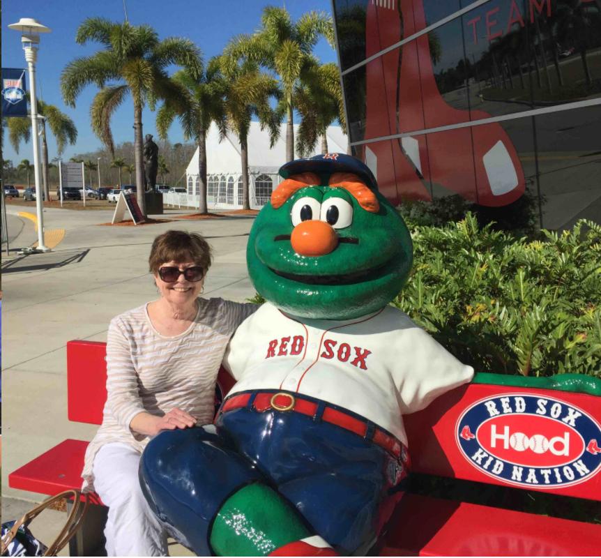 Susan and Wally, the Red Sox mascot