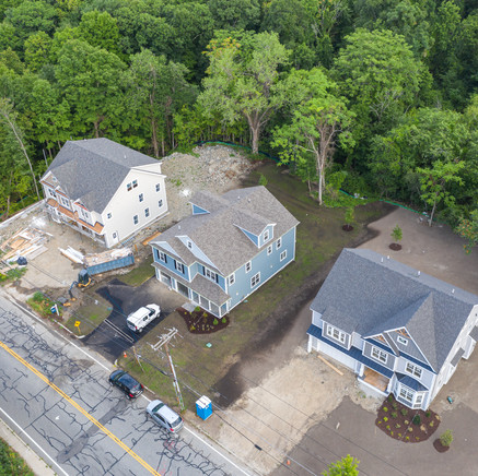 Drone Photo of Forest street homes almost complete