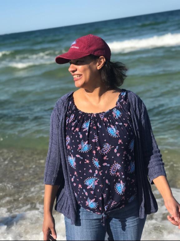 Lynette at the beach