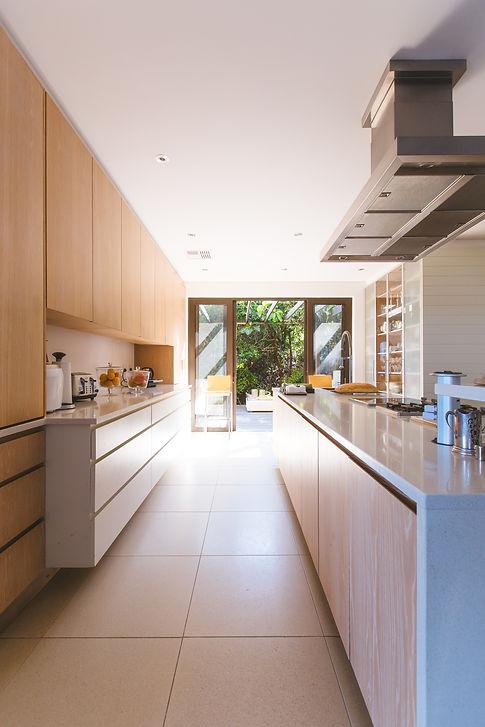 Modern Kitchen with slider to back yard