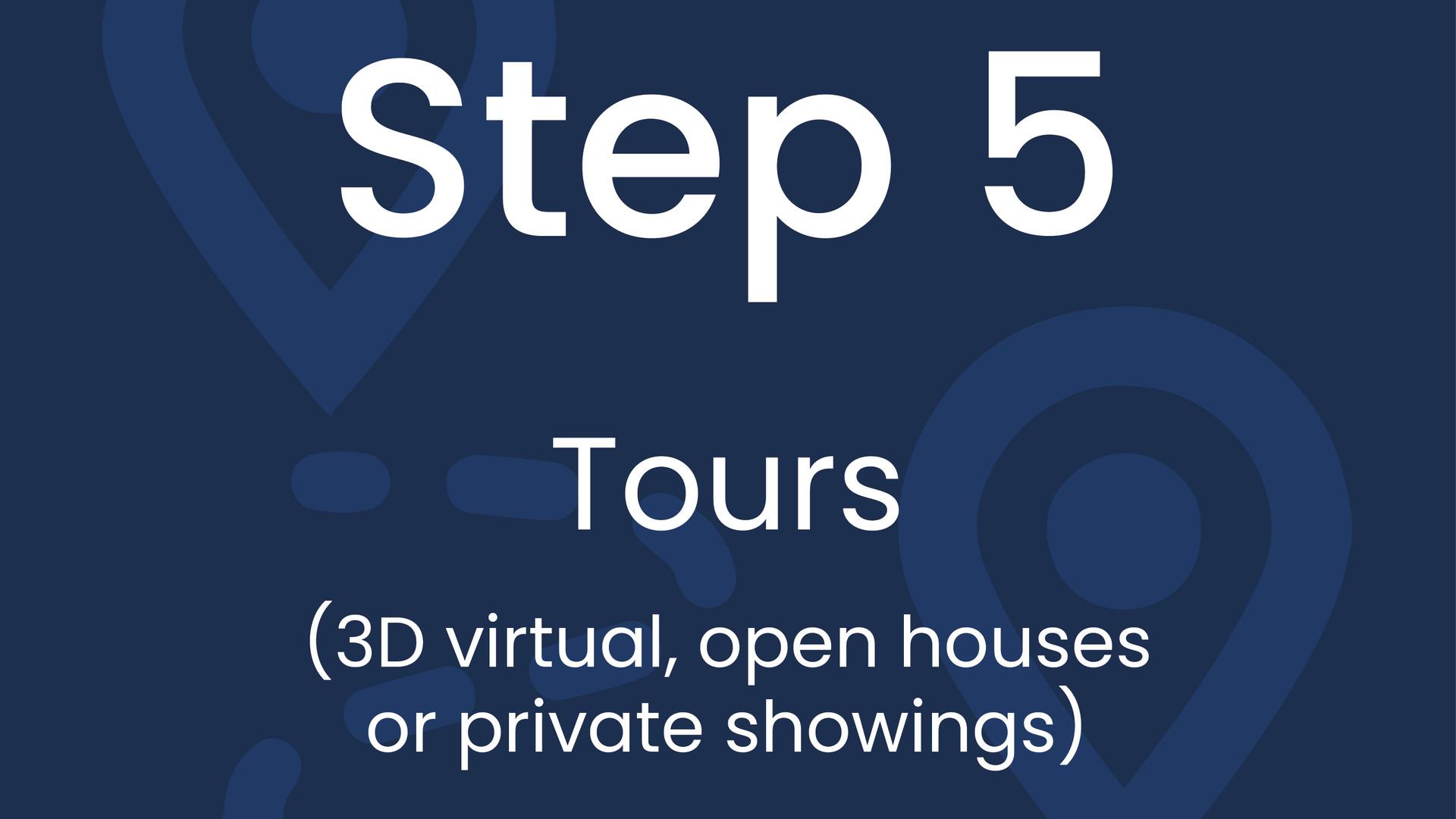 Step 5: Tours