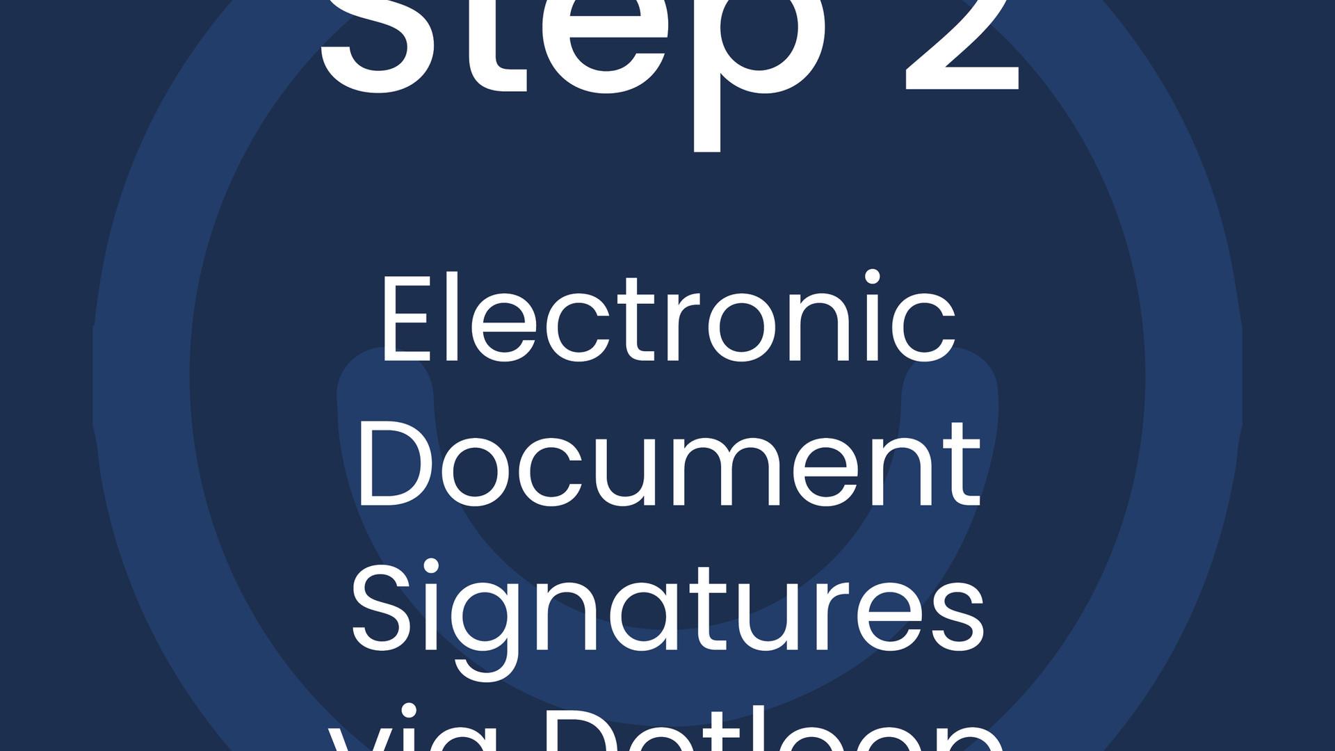 Step 2: Electronic Document Signatures via Dotloop
