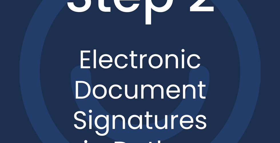 Step 2: Electronic Document Signatures via Dotloop