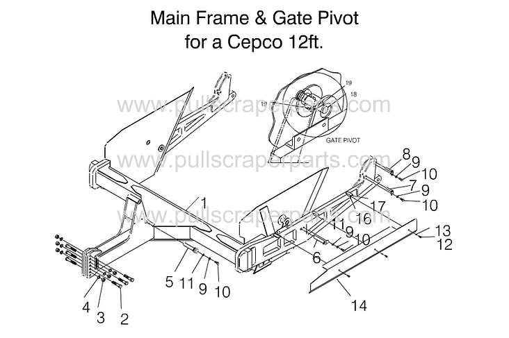 Main Frame & Gate Pivot for Cepco 12ft.p