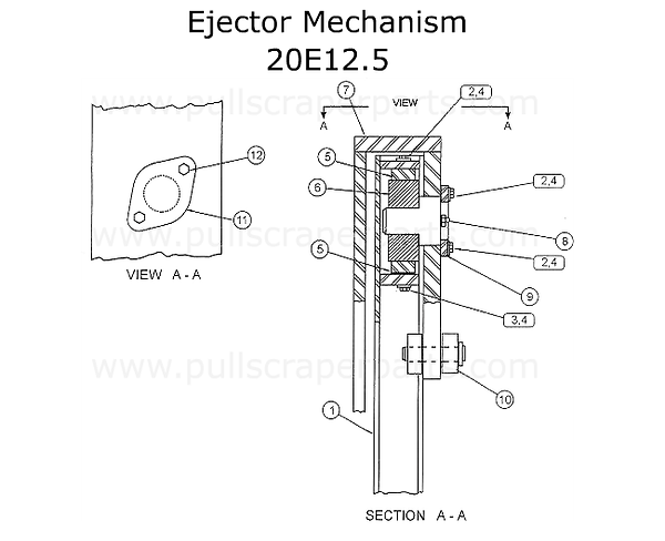 Ejector Mechanism for a Reynolds 20E12.5