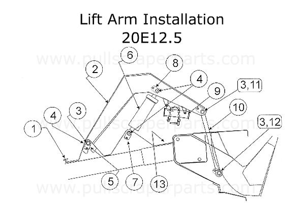 Lift Arm Installation for a Reynolds 20E