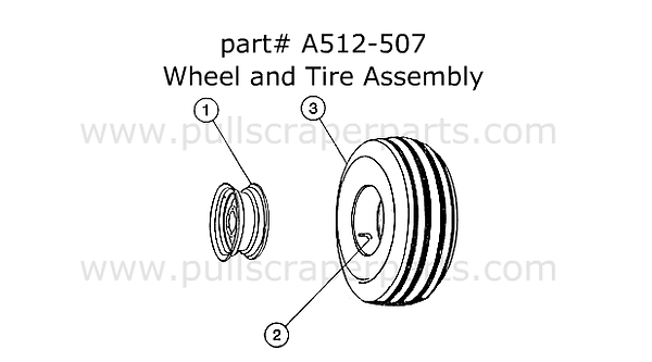 Wheel & Tire Assembly for a Reynolds A51
