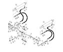 Hydraulic lines, bucket Cylinder JD 1312