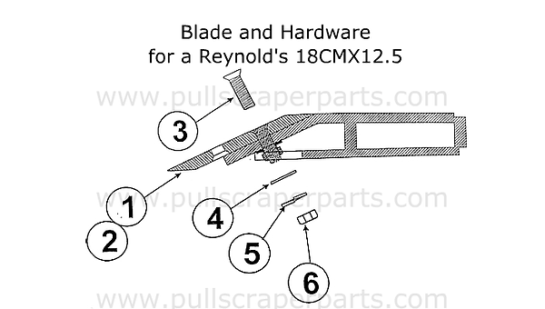 Blade and Hardware for a Reynolds 18CMX1