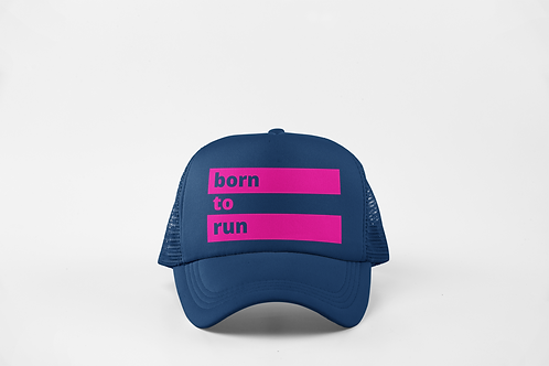 Born to Run - Navy & Neon Pink