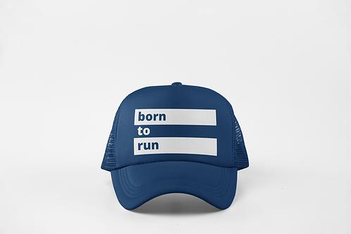 Born to Run - Navy & White