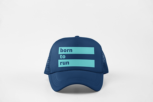 Born to Run - Navy & Ocean Green