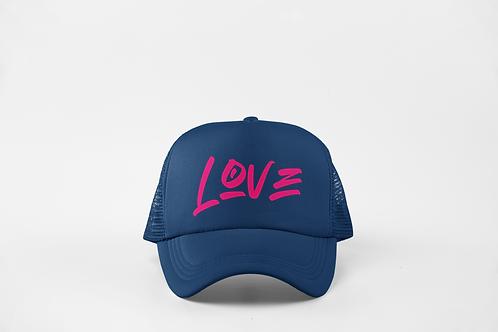 Love - Navy & Neon Pink