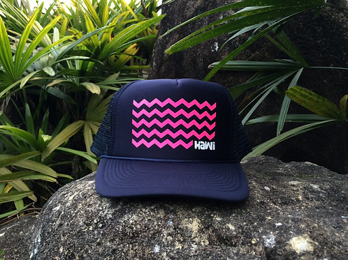 Waves - Navy + Pink