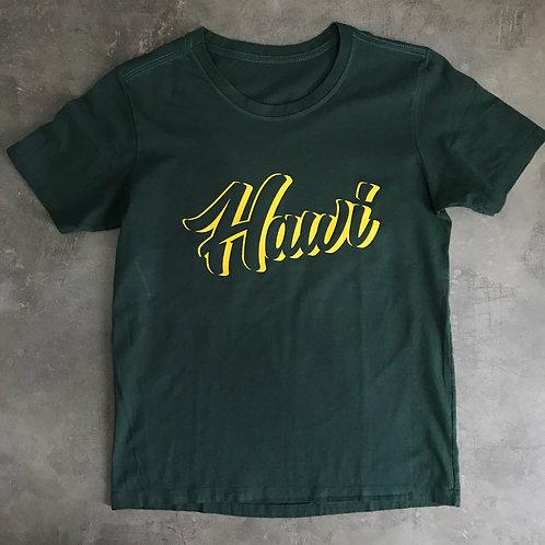 TEE SHIRT HAWI LEAGUE - VERDE MILITAR
