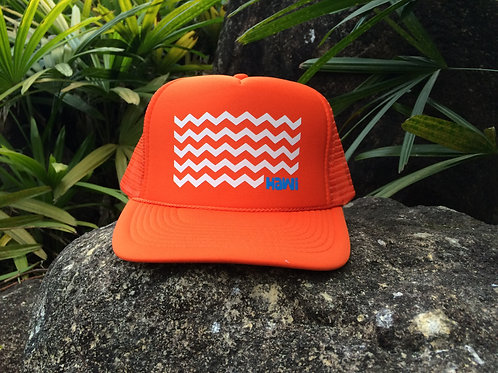 Waves - Orange + White