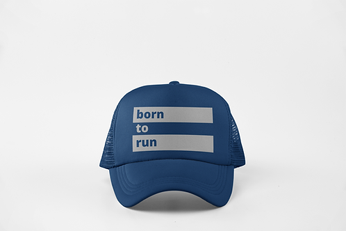 Born to Run - Navy & Silver