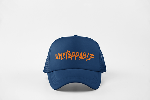 Unstoppable - Navy & Neon Orange