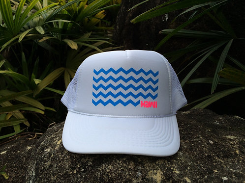 Waves - White + Water Blue
