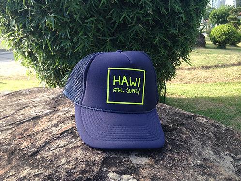 Hawi Neon Logo Trucker Hat