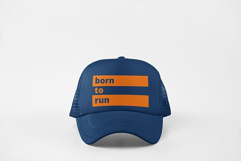 Born to Run - Navy & Neon Orange
