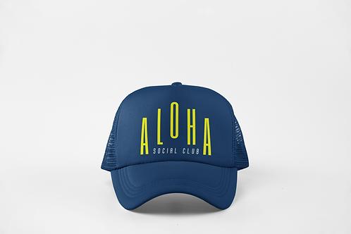 Aloha Social Club - Navy & Neon